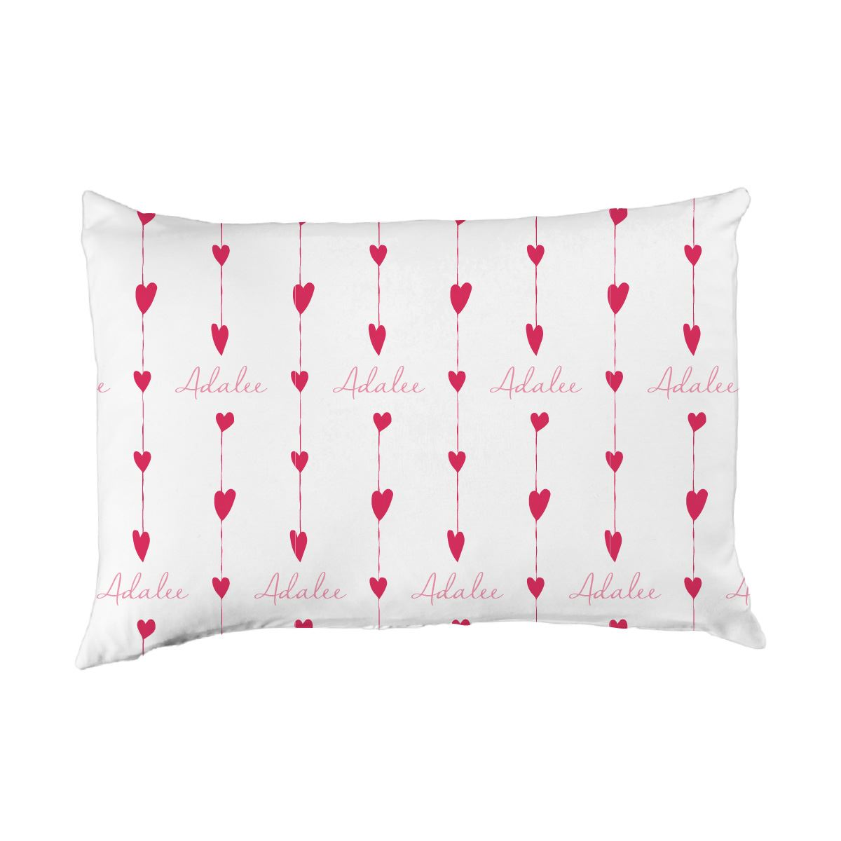 Adalee's Valentine Hearts | Big Kid Pillow Case