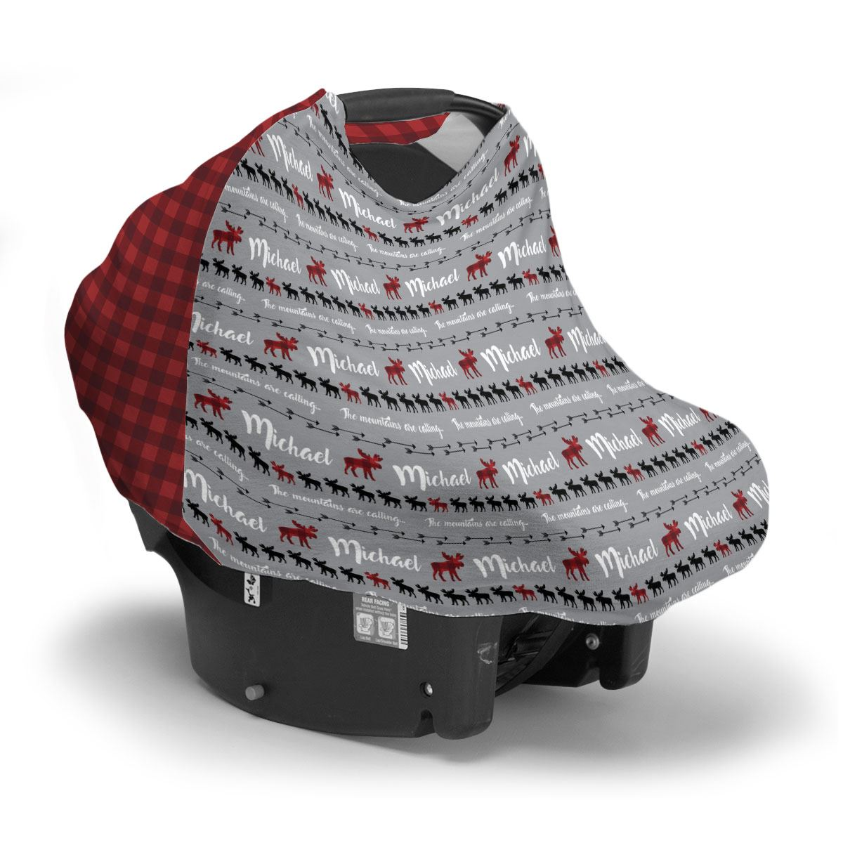 Sam's Moose Mountains are Calling | Car Seat Cover (Multi-Use)