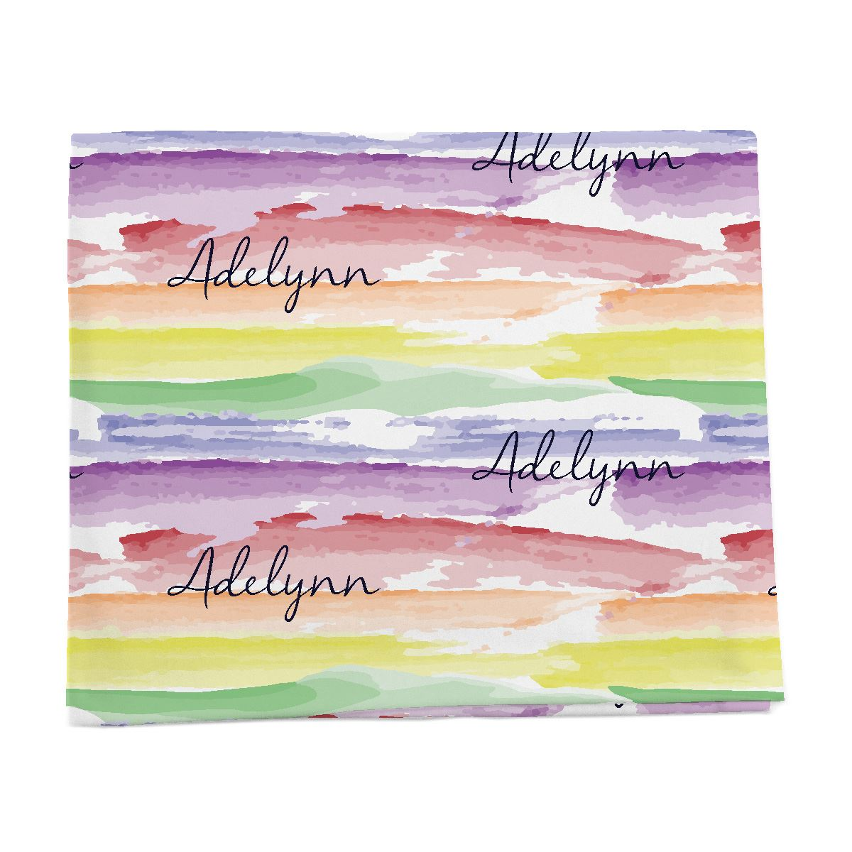 Jayla's Watercolor Rainbow | Swaddle