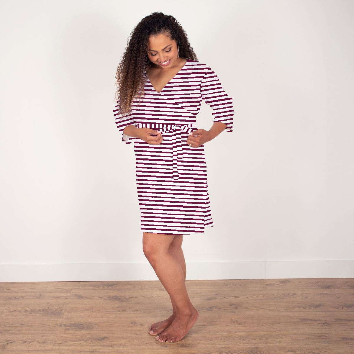 Alice's Autumn Rose Stripes | Robe