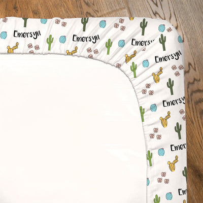 Claire's Cactus Blossoms | Fitted Crib Sheet