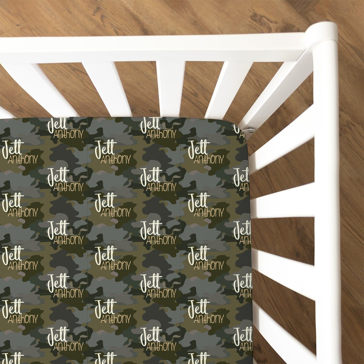 Crew's Woodland Camo | Fitted Crib Sheet