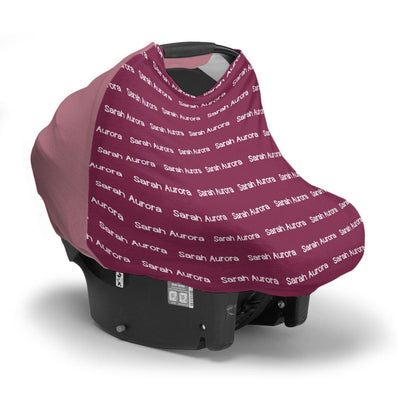 Sarah's Plain Background | Car Seat Cover (Multi-Use)