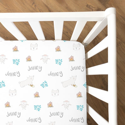 Dawn's Campfire Friends | Fitted Crib Sheet