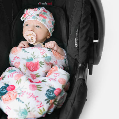 Isabella's Scallops and Peonies | Car Seat Blanket