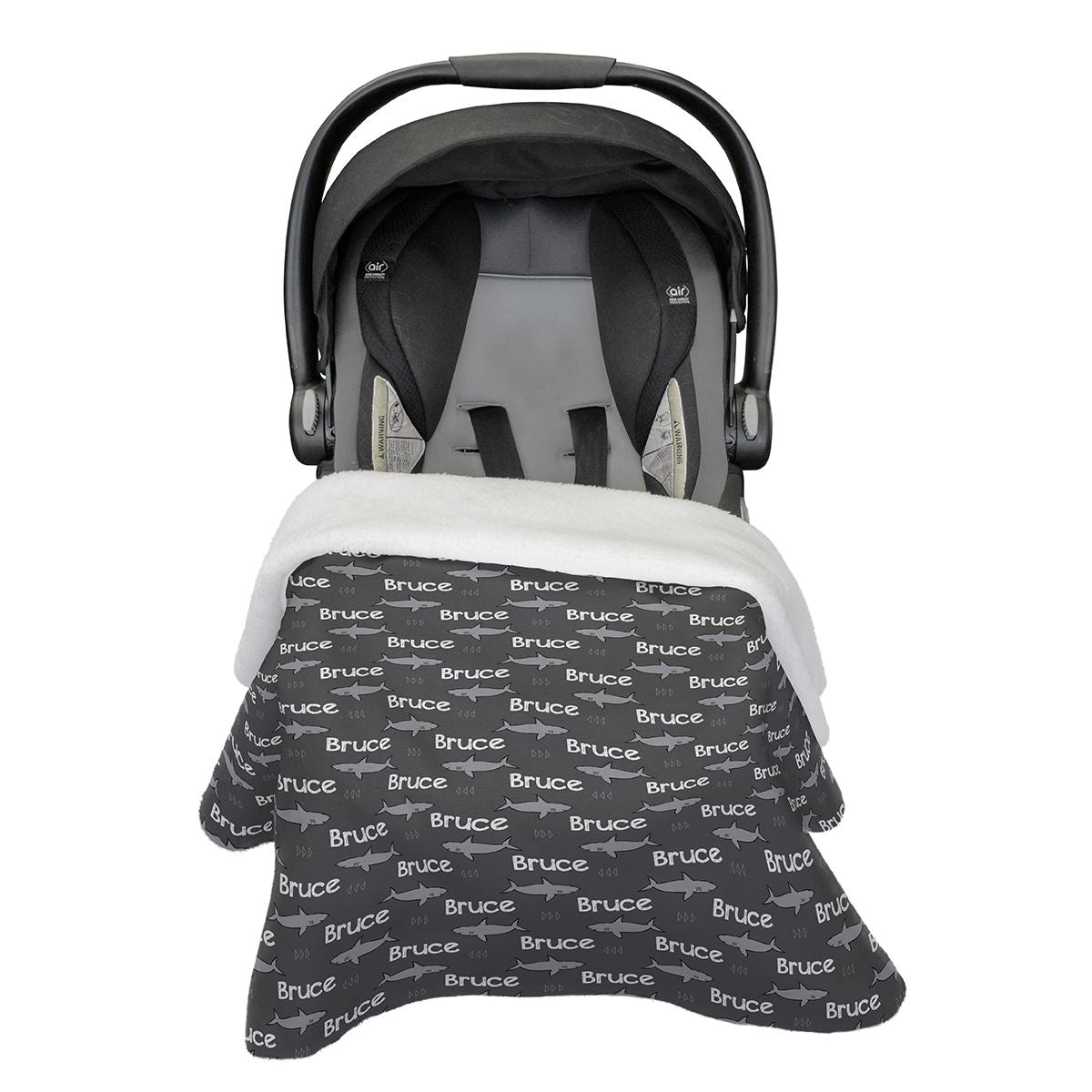 Bruce's Noble Shark | Car Seat Blanket