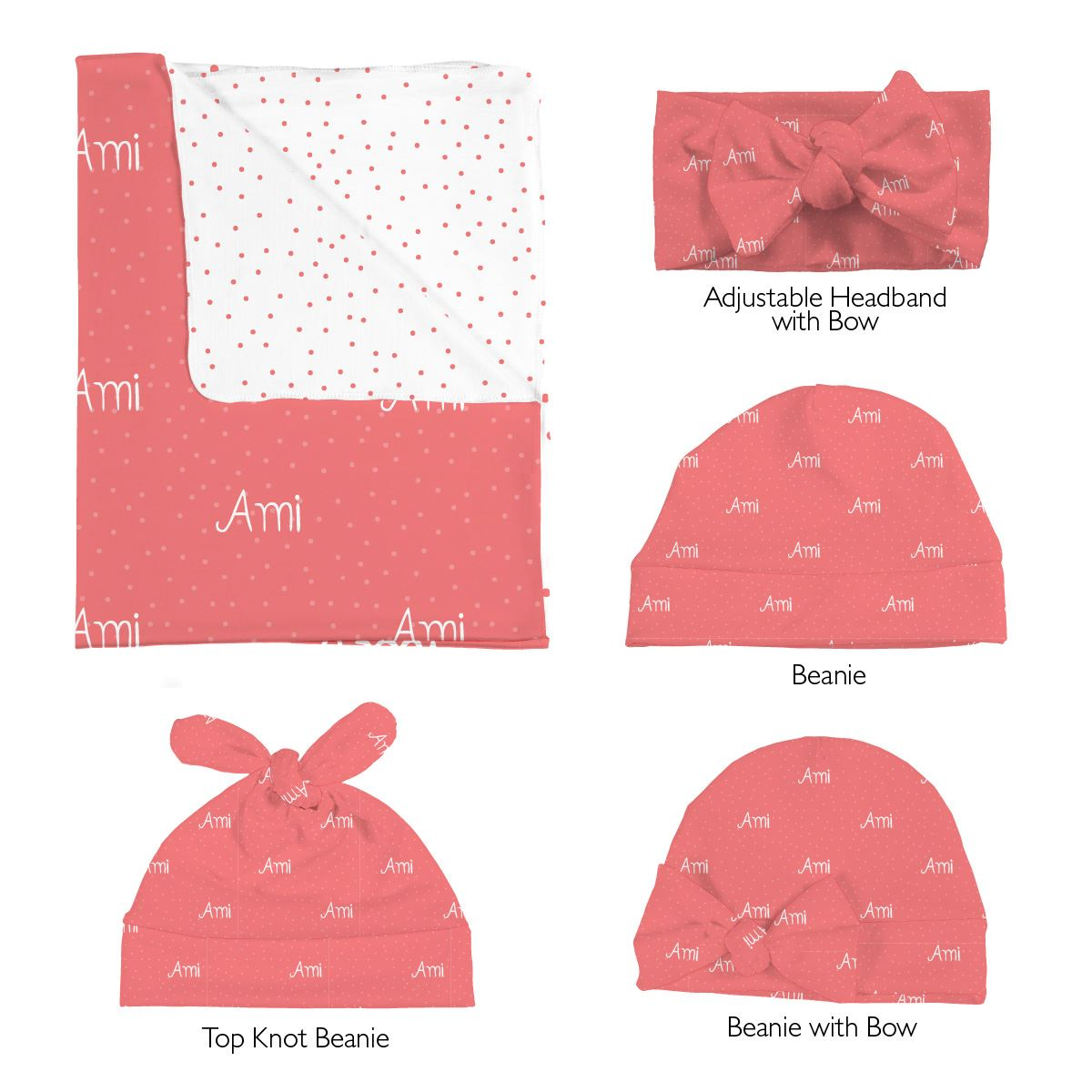 Ami's Cute Confetti | Swaddle and Hat Set