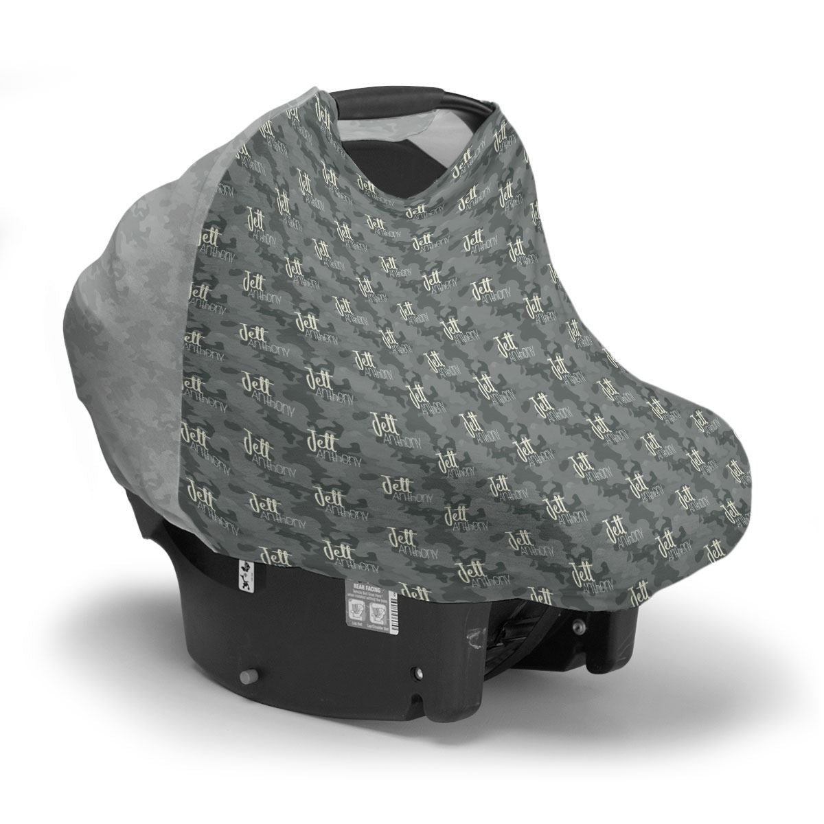 Jett's Graphite Camo | Car Seat Cover (Multi-Use)
