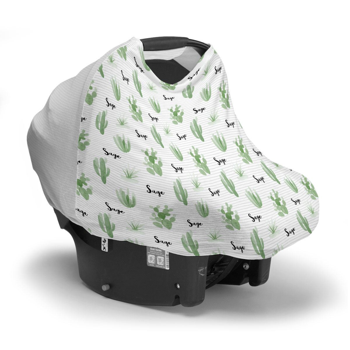 Tera's Earthy Cactus | Car Seat Cover (Multi-Use)