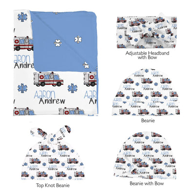 Aaron's Speedy Ambulance | Swaddle and Hat Set