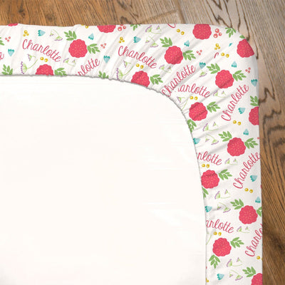 Freya's Spring Floral | Fitted Crib Sheet