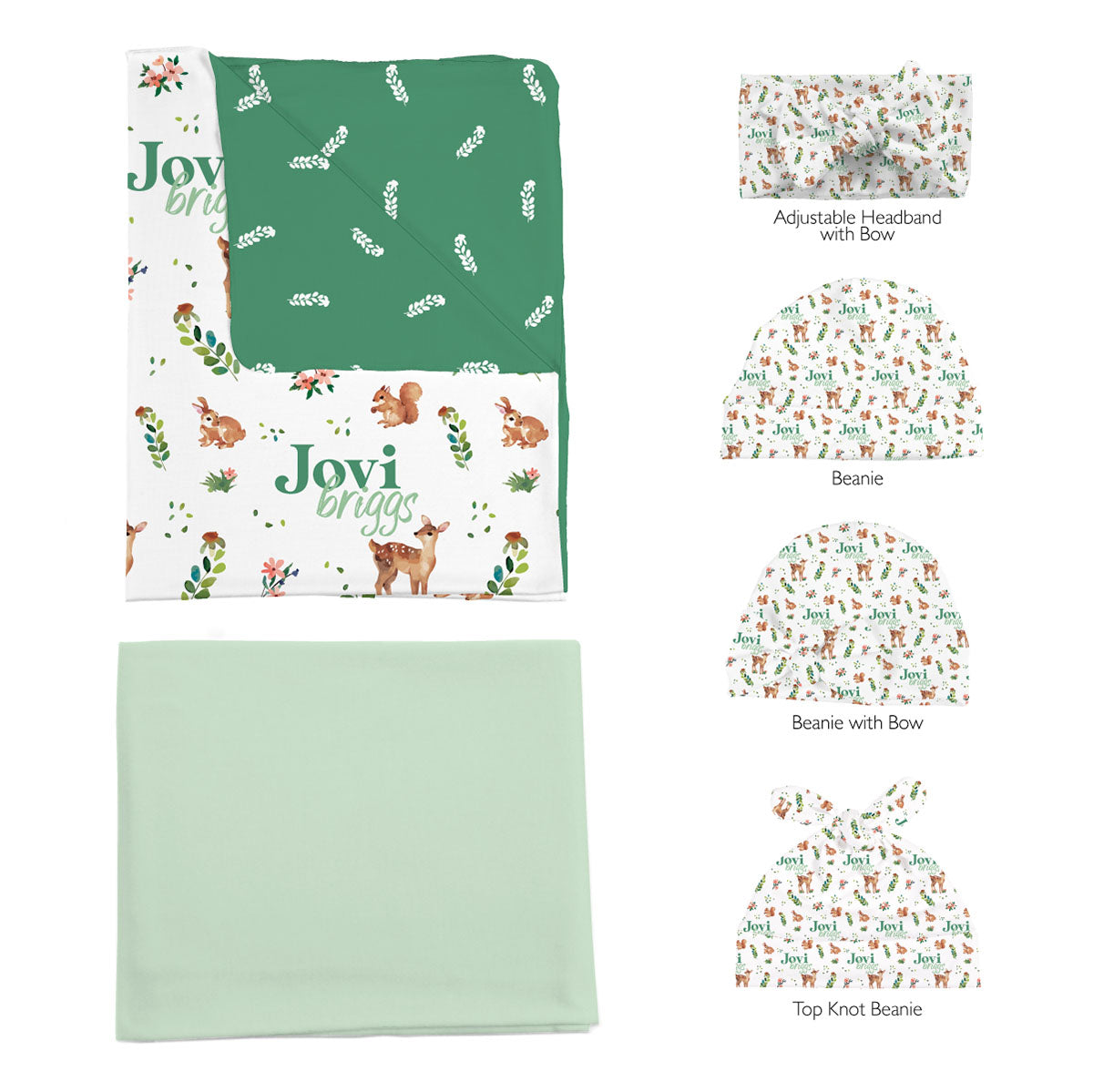 Frolicking Fawns | Swaddle and Hat Set