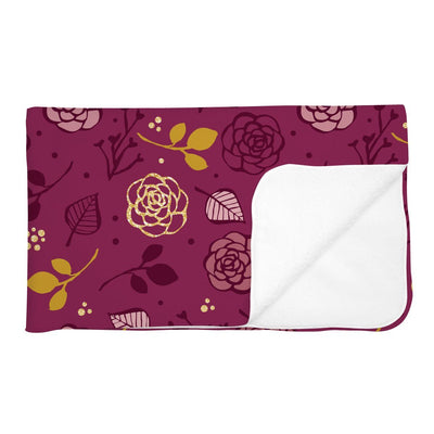Hadlee's Plum Floral | Adult Size Blanket