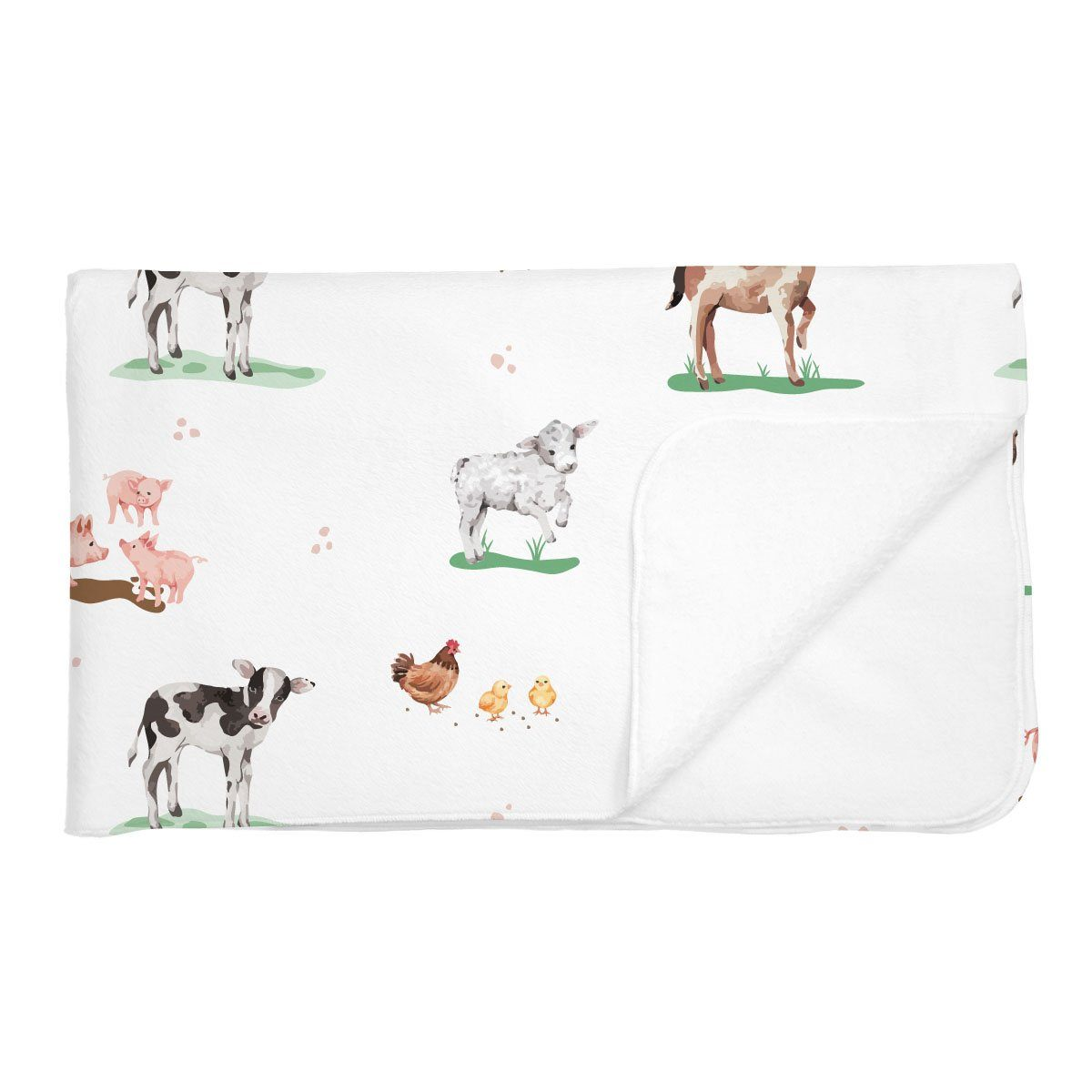 Hannah's Farm Animals | Adult Size Blanket