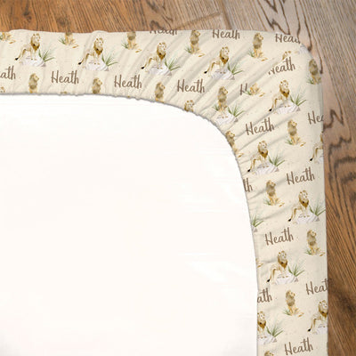 Heath's Lion Pride | Fitted Crib Sheet