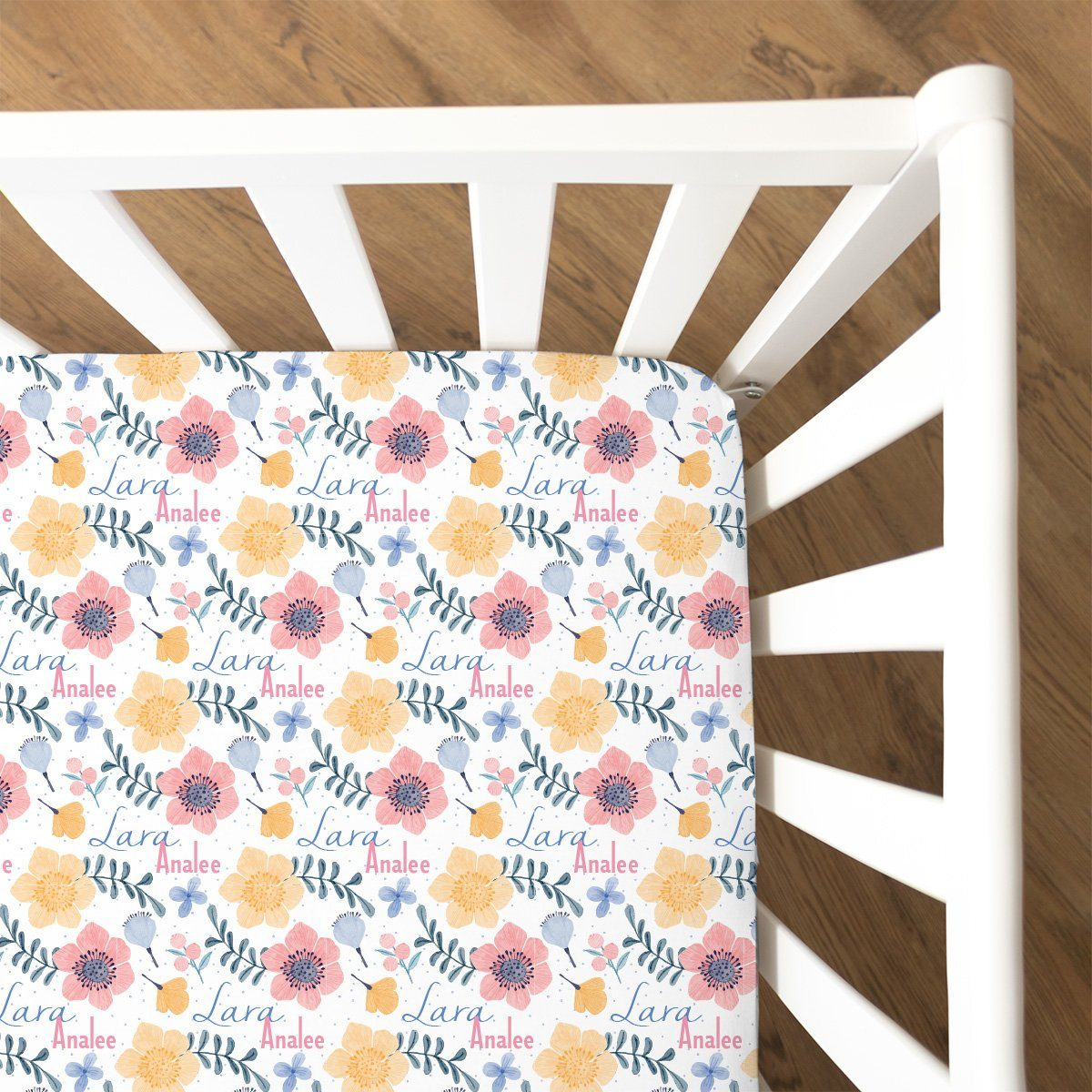 Lara's Fairy Floral | Fitted Crib Sheet