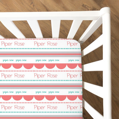 Lilly's Scallop and Dots | Fitted Crib Sheet