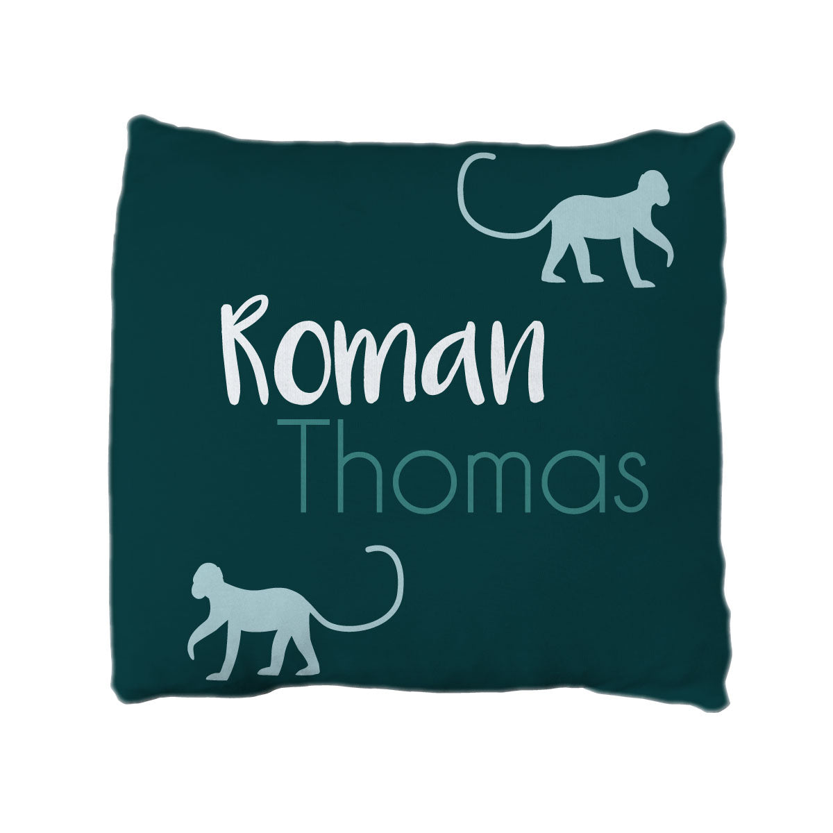 Roman's Monkey Mischief | Big Kid Throw Pillow