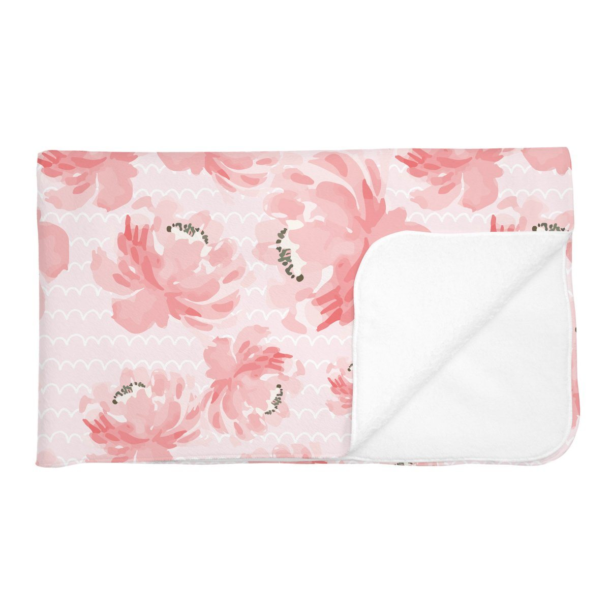 Isabella's Scallops and Peonies | Adult Size Blanket