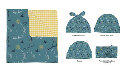 Melanie's Sending Wishes | Swaddle and Hat Set