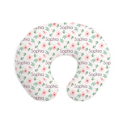 Sophia's Pinstriped Impatiens | Pillow Cover for Boppy®