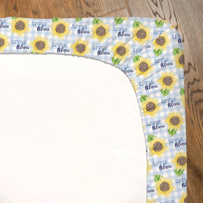 Summer's Sweet Sunflower | Fitted Crib Sheet