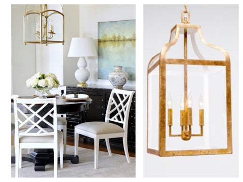 Dining Room Lighting  Sarah Virginia Home - Lantern chandelier for dining room