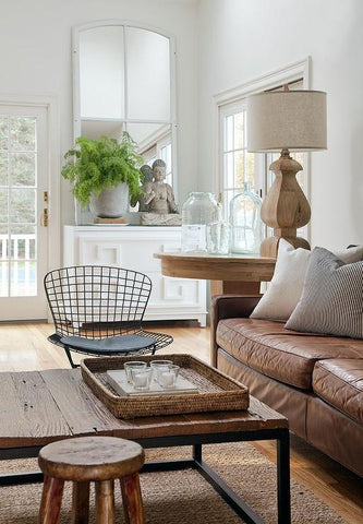 mixing rustic and modern decor
