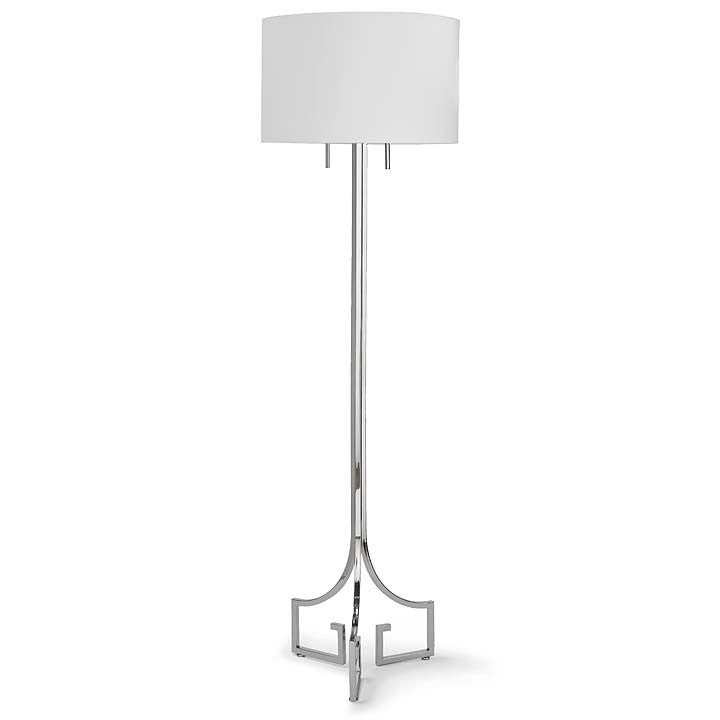Le Chic Polished Nickel Floor Lamp - Sarah Virginia Home