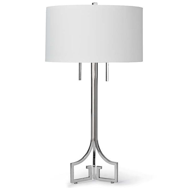 Le Chic Polished Nickel Table Lamp - Sarah Virginia Home
