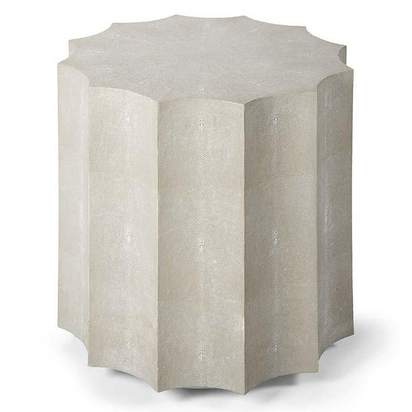 Ivory Gray Shagreen Table - Sarah Virginia Home