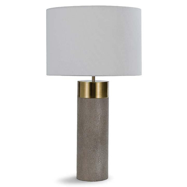 Harlow Shagreen Lamp- Ivory Gray - Sarah Virginia Home