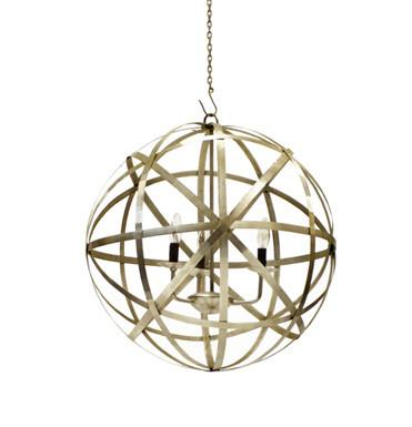 Polished Nickel Pendant - Sarah Virginia Home