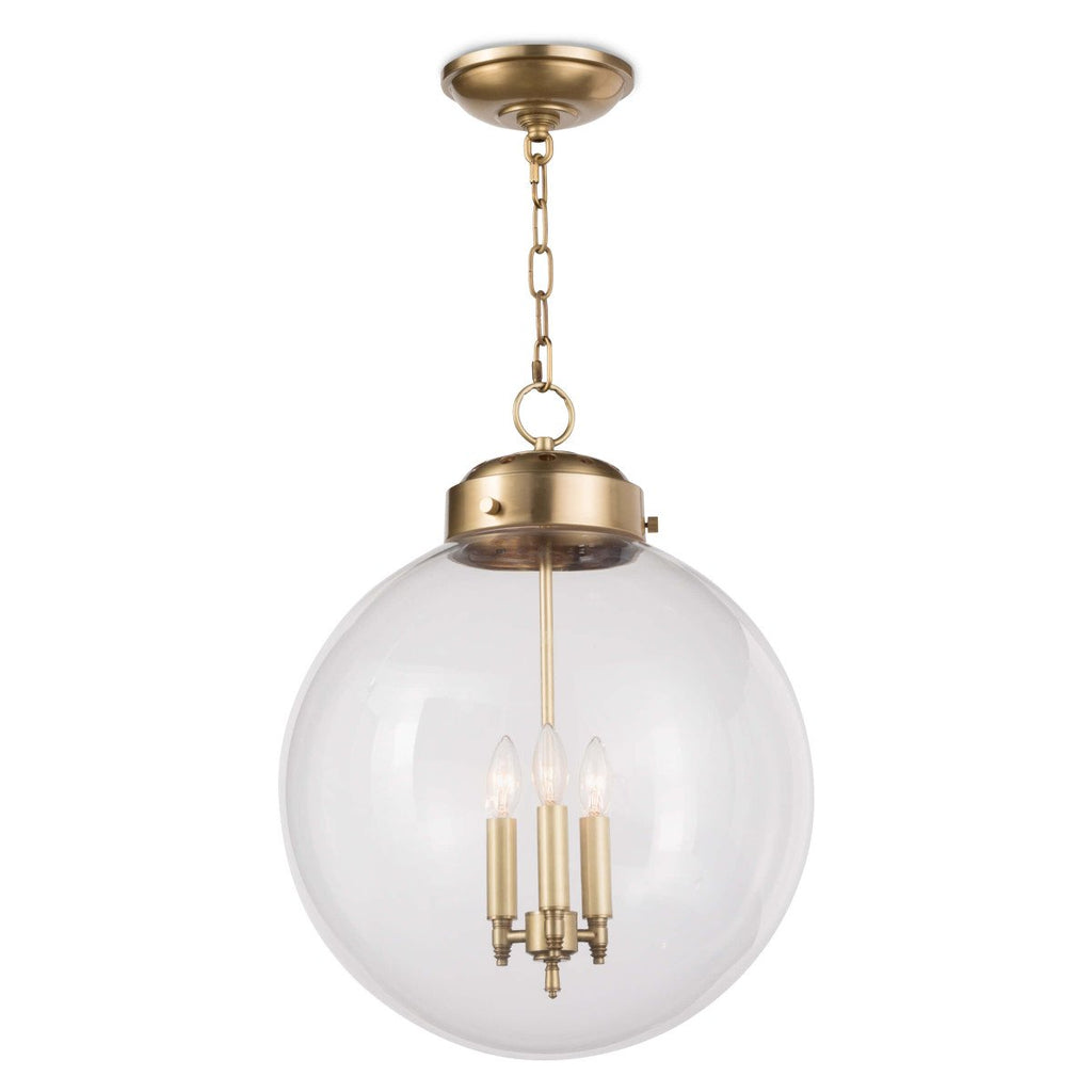 Globe Pendant (Brass) - Sarah Virginia Home