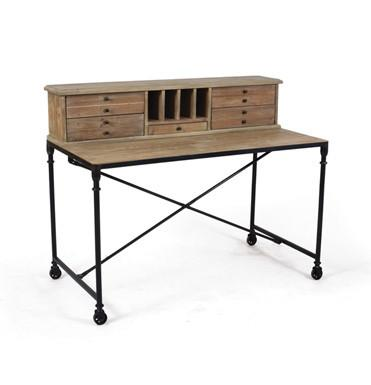 Rustic Industrial Desk - Sarah Virginia Home