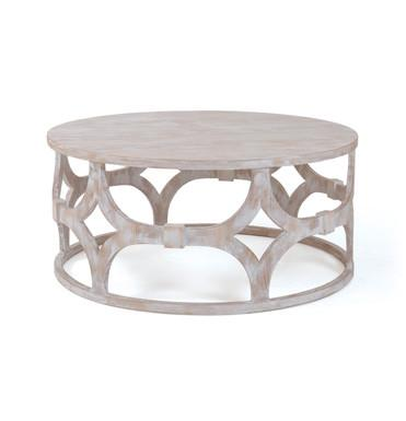 Trellis Round Coffee Table - Sarah Virginia Home