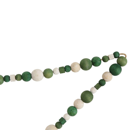 Wood Bead Garland (Green) - Sarah Virginia Home