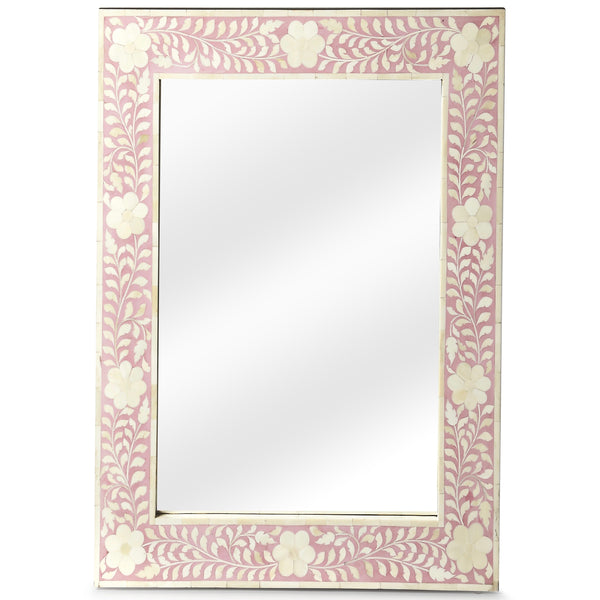 Pink Bone Inlay Mirror - Sarah Virginia Home
