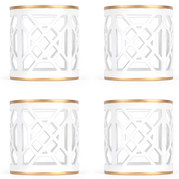 Fretwork Napkin Rings (set of 4) - Sarah Virginia Home