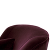 Mona Swivel Chair (Aubergine) - Sarah Virginia Home
