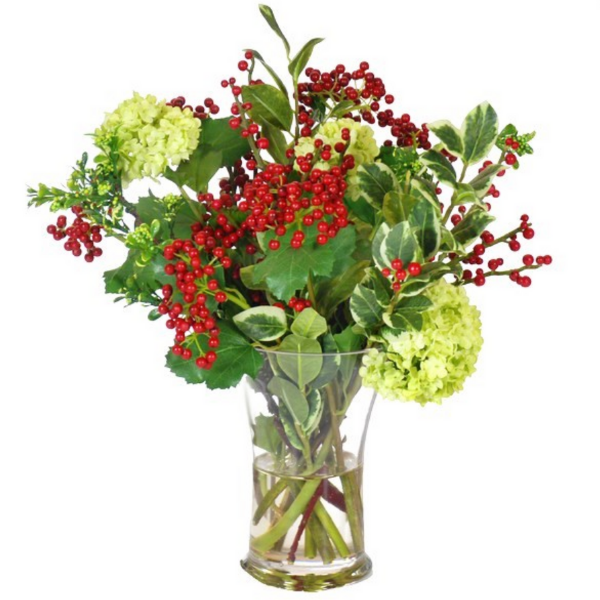 Red and Green Christmas Arrangement - Sarah Virginia Home