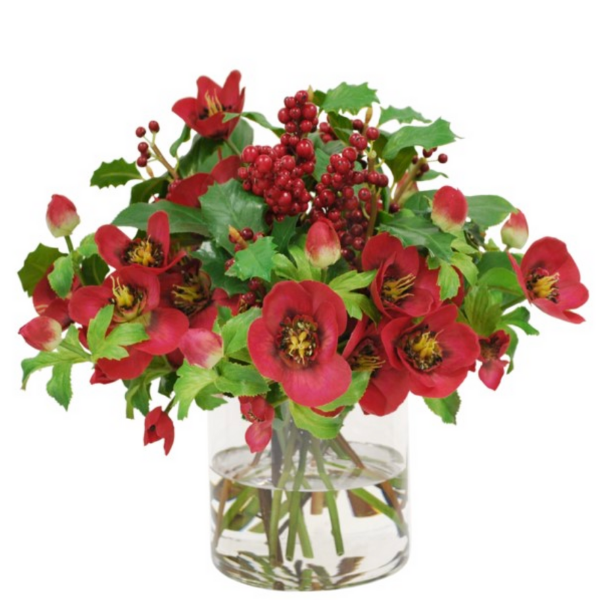 Hellebores Christmas Arrangement - Sarah Virginia Home