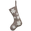 Snowflake Applique Stocking - Sarah Virginia Home