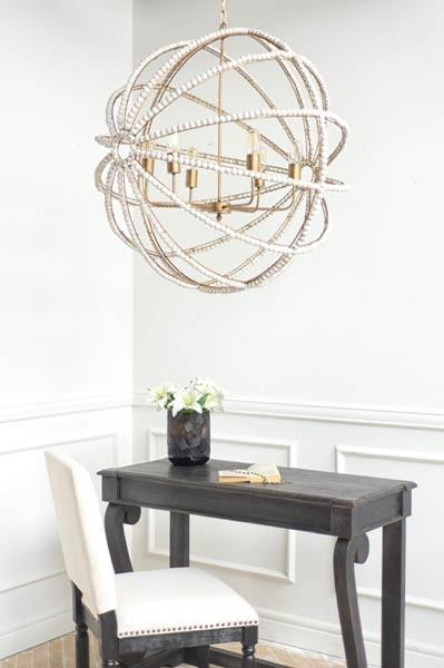 Gilded White Orb Chandelier Sarah Virginia Home