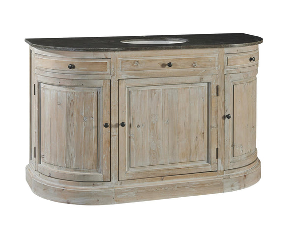 Demi-lune Bathroom Vanity - Sarah Virginia Home