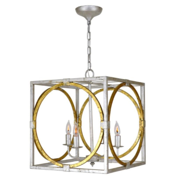 Silver and Gold Lantern - Sarah Virginia Home