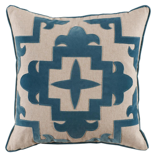 Gatsby Pillow (Blue) - Sarah Virginia Home - 1