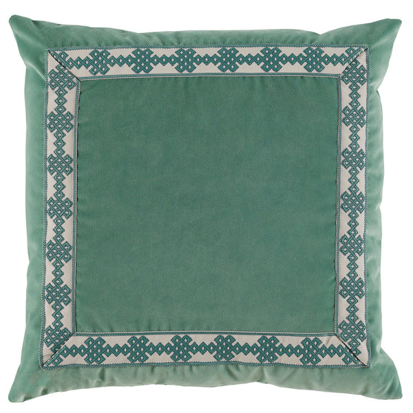 Velvet Seafoam Throw Pillow - Sarah Virginia Home