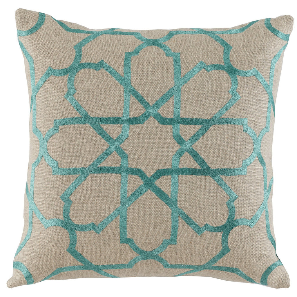 Linen Embroidery Pillow - Sarah Virginia Home