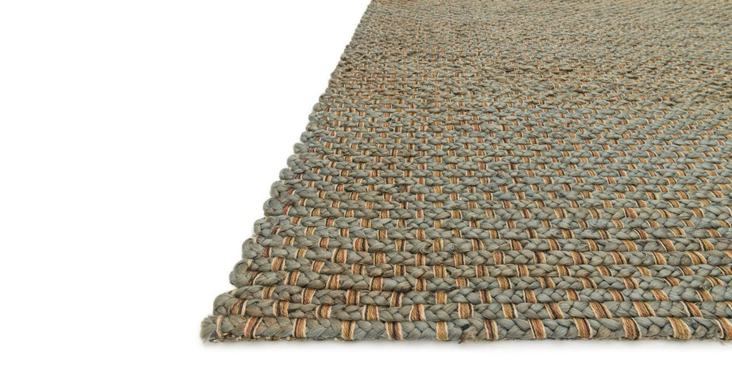 Blue and Gray Jute Rug - Sarah Virginia Home